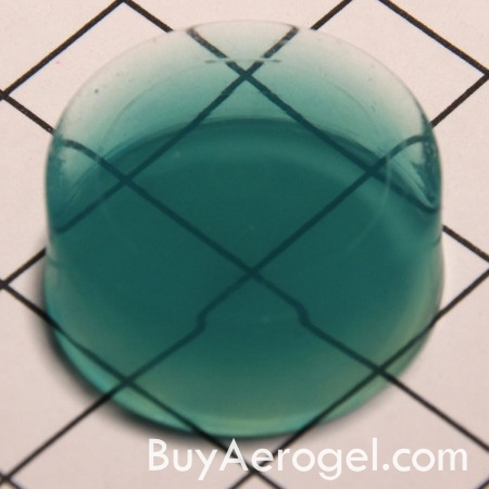 Green Aerogel Disc from Aerogel Technologies