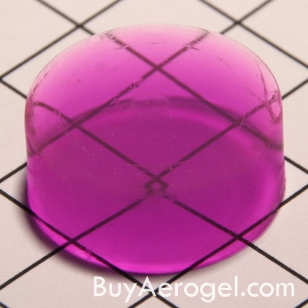 Purple Aerogel Disc from Aerogel Technologies