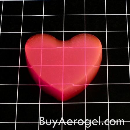 Heart-Shaped Valentine Aerogel™ from Aerogel Technologies