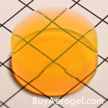 Yellow Aerogel Disc from Aerogel Technologies